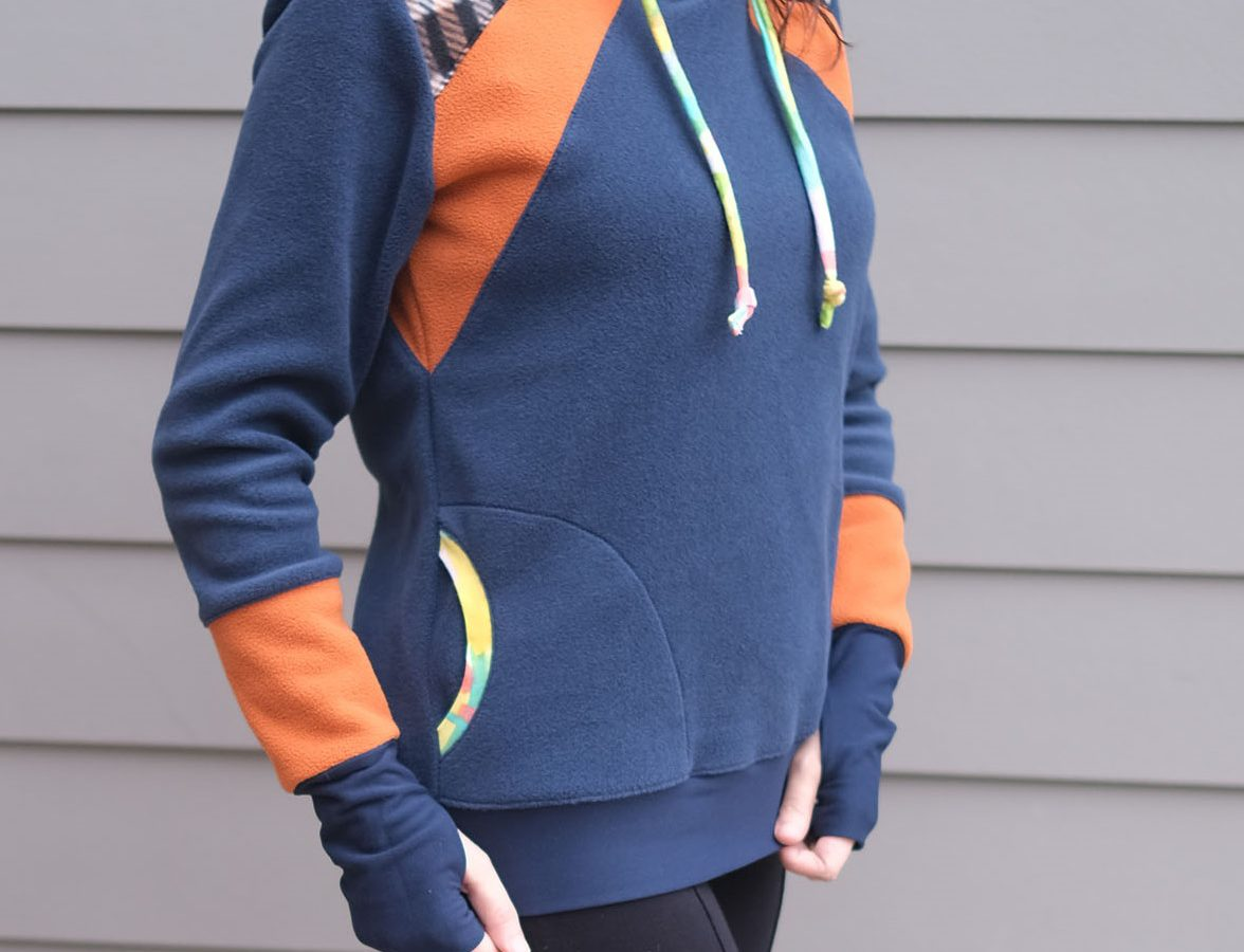 Get a free color-blocked sweater pattern before end of the month